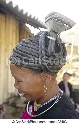 Ethnic black Dao female - csp4423403