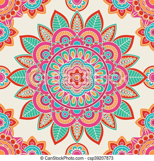 ethnic boho hippie seamless pattern csp39207873 - Boho Muster