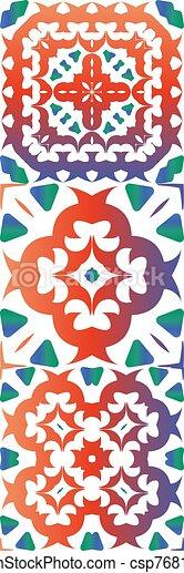 Ethnic ceramic tiles in mexican talavera. - csp76816953