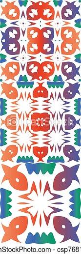 Ethnic ceramic tiles in mexican talavera. - csp76816955