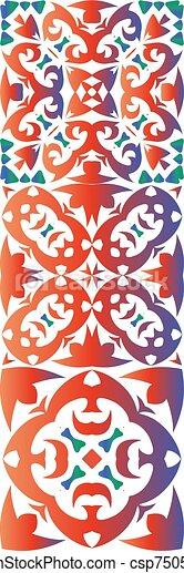 Ethnic ceramic tiles in mexican talavera. - csp75054486