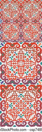 Ethnic ceramic tiles in mexican talavera. - csp74850734