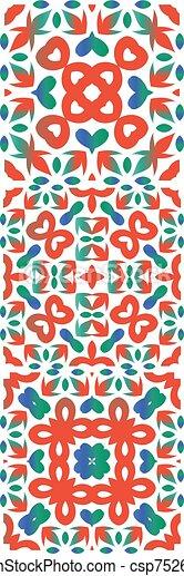 Ethnic ceramic tiles in mexican talavera. - csp75264431