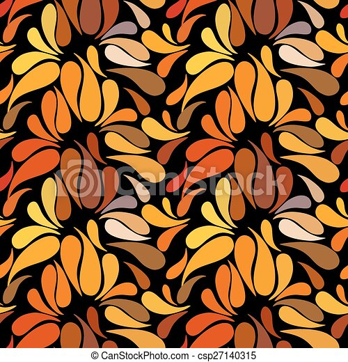 Ethnic colorful floral hand drawn doodle slyle seamless pattern - csp27140315