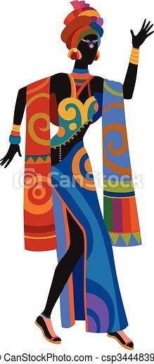 Ethnic dance african woman - csp34448394
