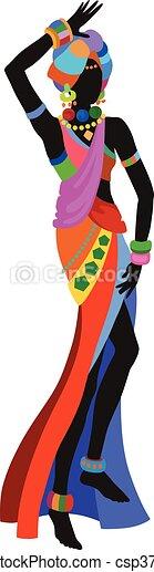 Ethnic dance african woman - csp37887495