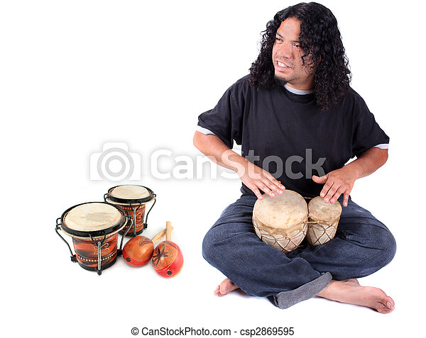 Ethnic drummer - csp2869595