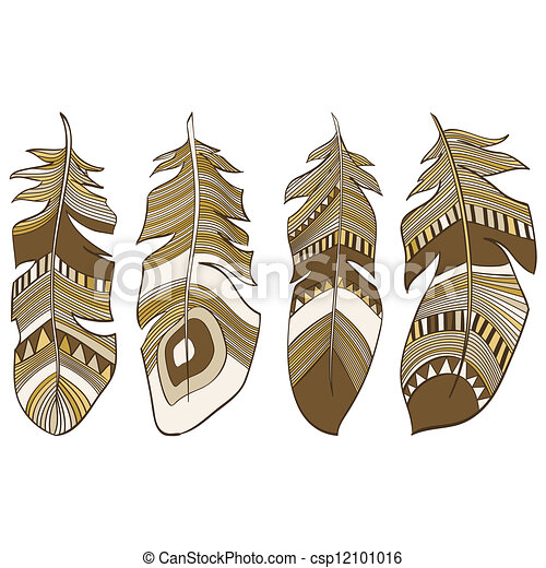 Ethnic Indian feathers plumage  - csp12101016