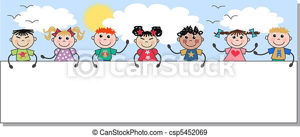 ethnic mixed kids - csp5452069