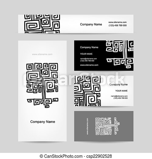Ethnic ornamental tree business cards design vector illustration ethnic ornamental tree business cards design csp22902528 colourmoves
