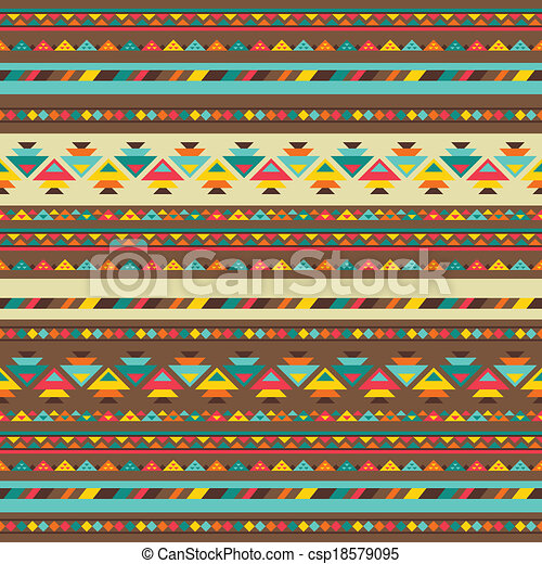 Ethnic seamless pattern in native style. - csp18579095