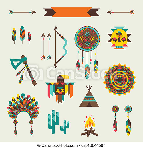 Ethnic seamless pattern in native style. - csp18644587