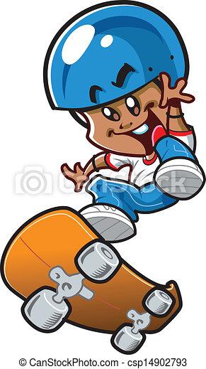 Ethnic Skateboard Boy - csp14902793