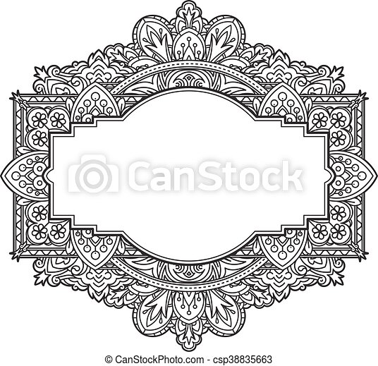 Ethnic template for design wedding invitations and greeting clip