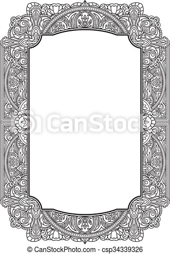 Ethnic template for design wedding invitations and greeting