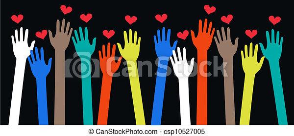 ethnicity peace freedom love - csp10527005