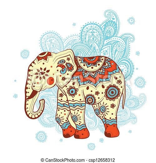 ethnische , elefant - csp12658312