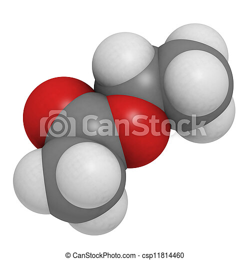 Ethyl Acetate Etoac Molecule Chemical Structure This
