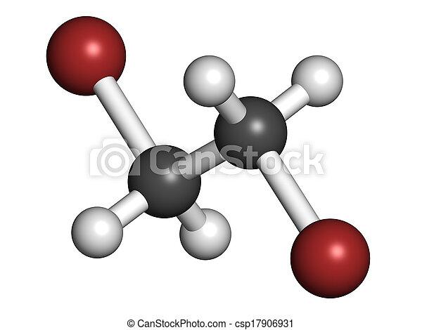 Ethylene Dibromide Edb 1 2 Dibromoethane Fumigant Molecule Atoms