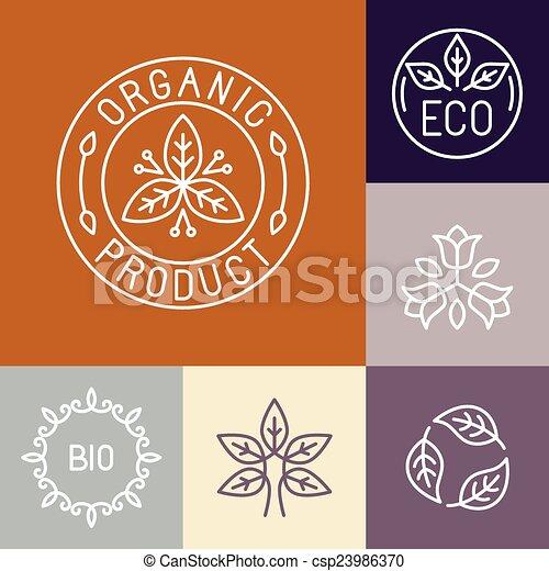 etichetta, contorno, vettore, organico, prodotto - csp23986370