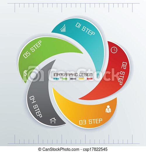 etichette, cinque, affari, infographics - csp17822545