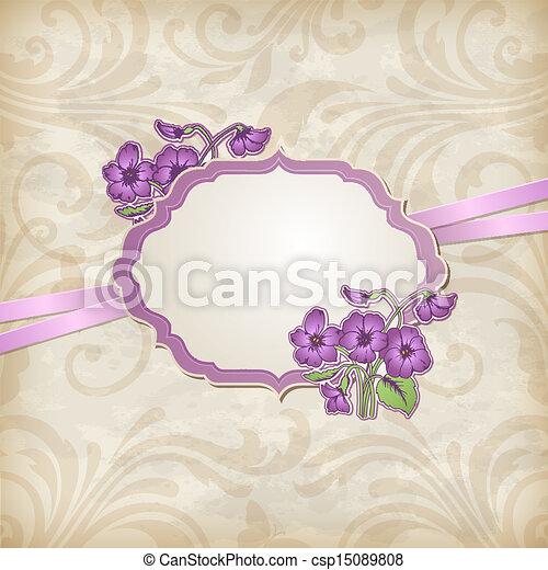 etikett, violer - csp15089808