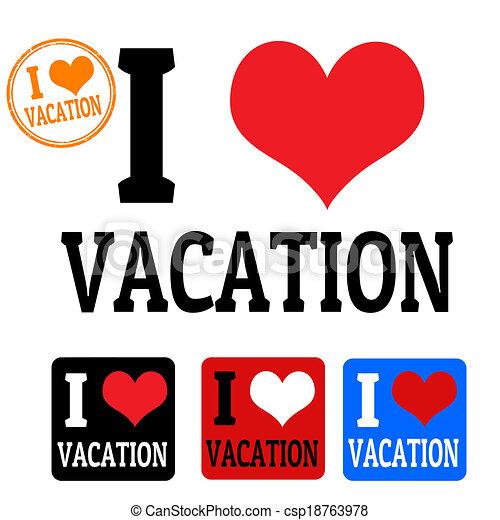 etiketten, liefde, vakantie, meldingsbord - csp18763978