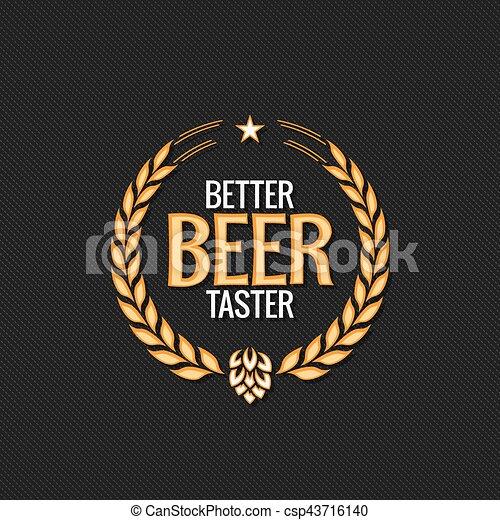10 Eps Etiqueta Cerveja Desenho Fundo Logotipo Recompensa