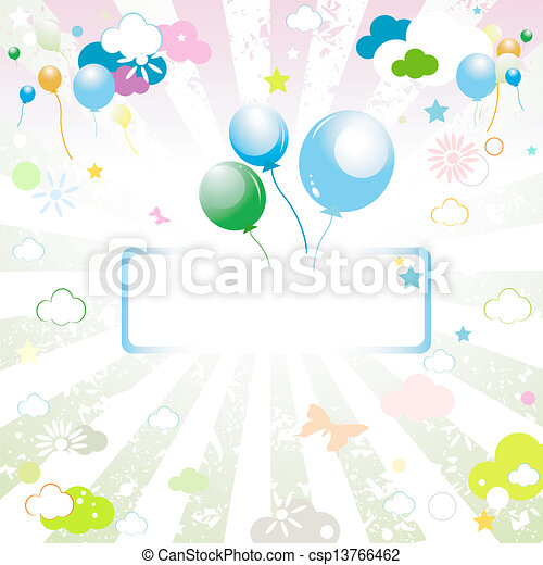 etiqueta, globos, vacío - csp13766462