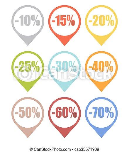 La etiqueta de venta marca vector de ilustración - csp35571909