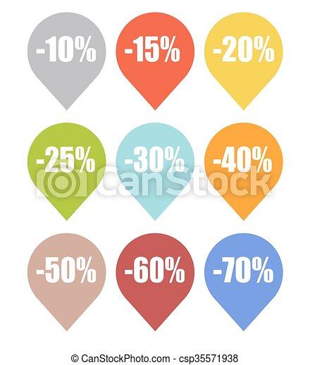 La etiqueta de venta marca vector de ilustración - csp35571938