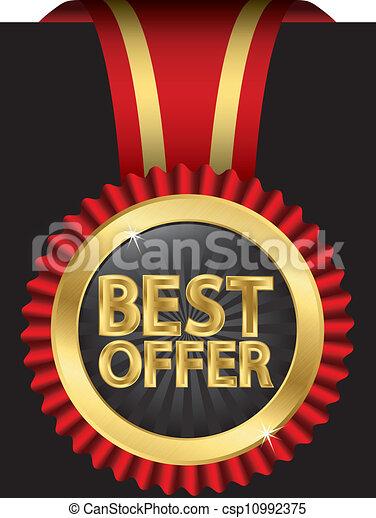Mejor oferta etiqueta dorada con rojo - csp10992375