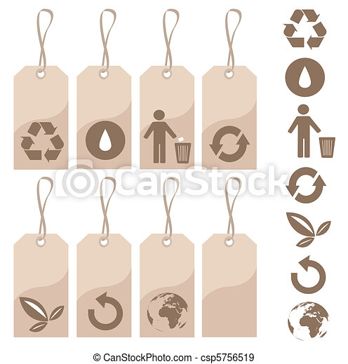 Etiquetas ambientales - csp5756519