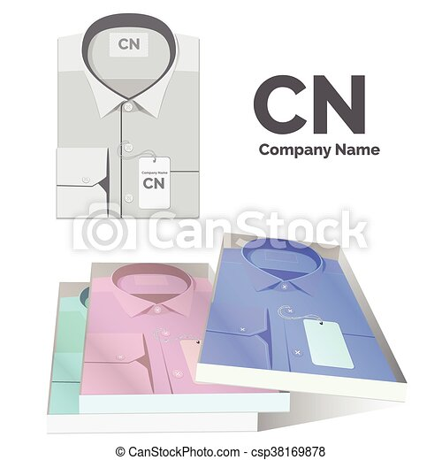 Un conjunto de camisas con etiquetas para ti - csp38169878
