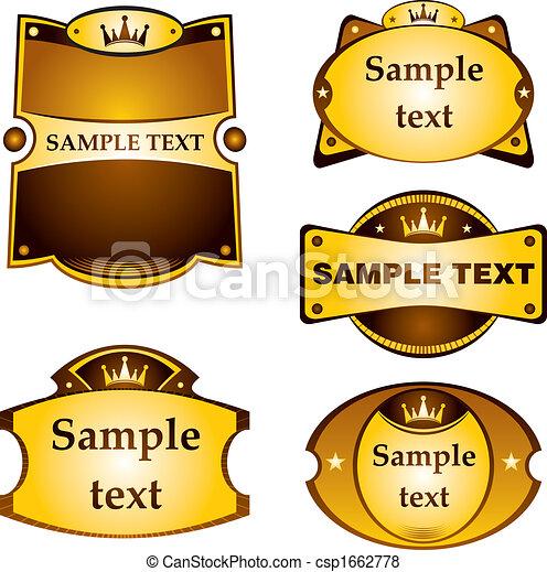 Marcas de oro fijadas - csp1662778