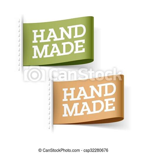 Etiquetas hechas a mano - csp32280676