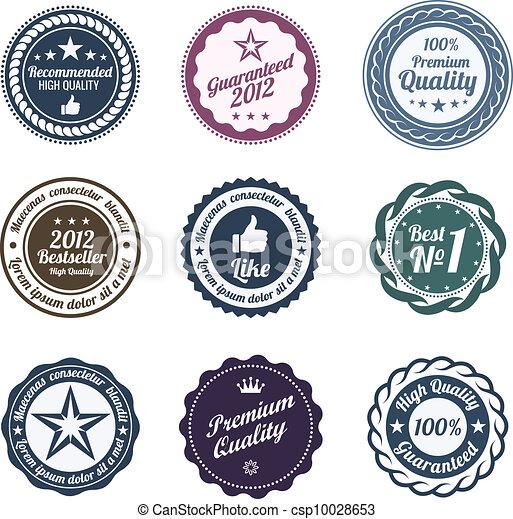 La colección de etiquetas - csp10028653