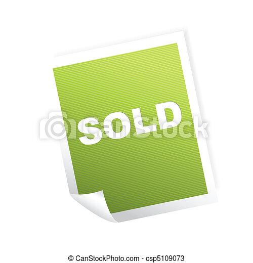 etiquette vendue - csp5109073