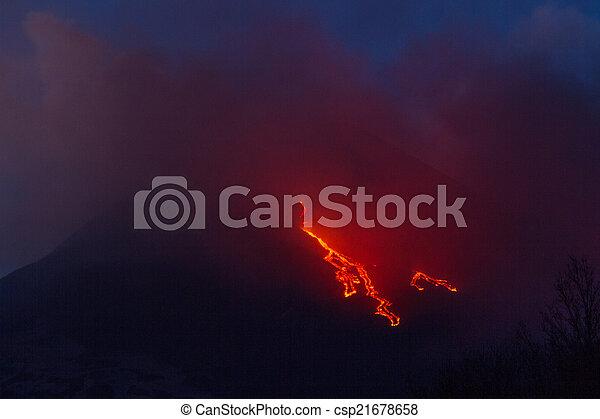 Etna Lava Flow - csp21678658