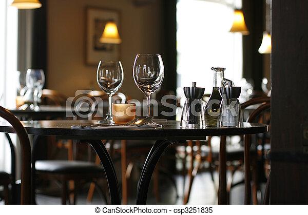ett slags tvåsittssoffa, restaurang - csp3251835