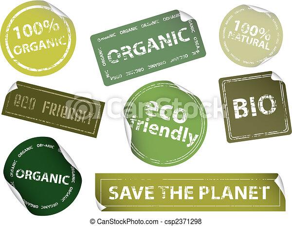 etykiety, eco-przyjacielski - csp2371298