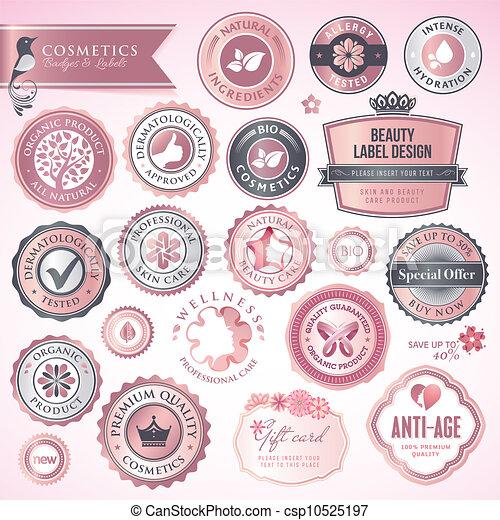 etykiety, kosmetyki, symbole - csp10525197