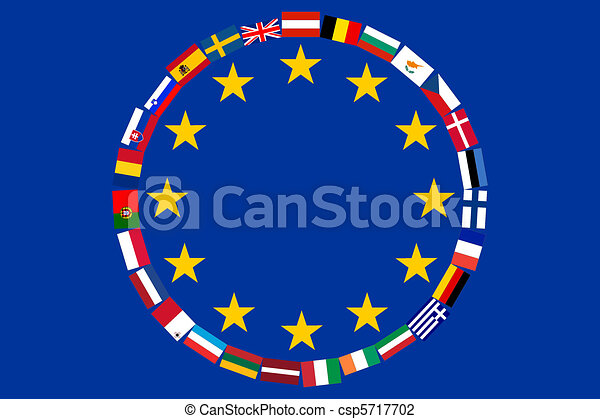eu, drapeaux - csp5717702