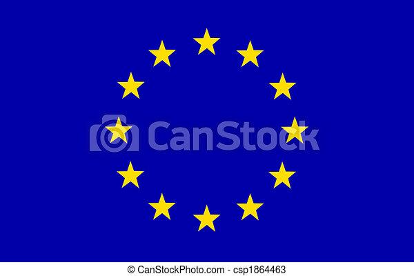 EU Flag - csp1864463