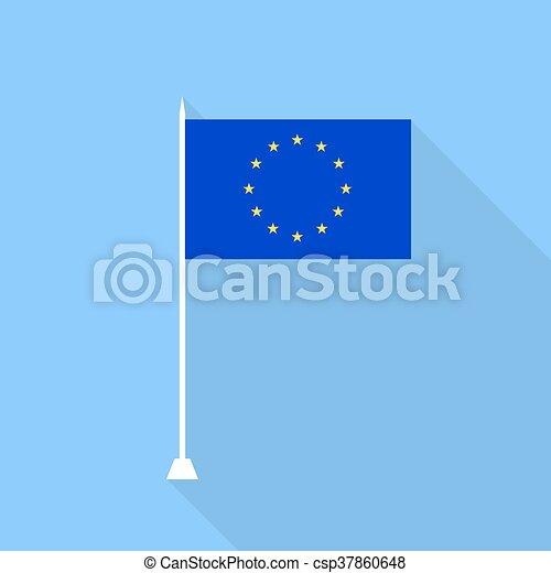 EU Flag . Vector illustration . - csp37860648