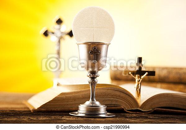 Eucharist, sacrament of communion - csp21990994
