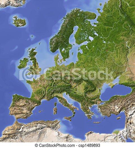 Európa Térkép Domborzati