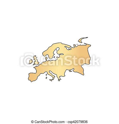 Eurasia computer symbol - csp42079836