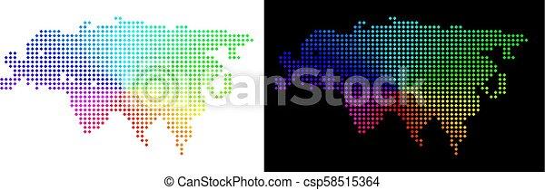 eurasie, spectre, pointillé, carte - csp58515364
