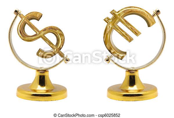 Euro and dollar - csp6025852